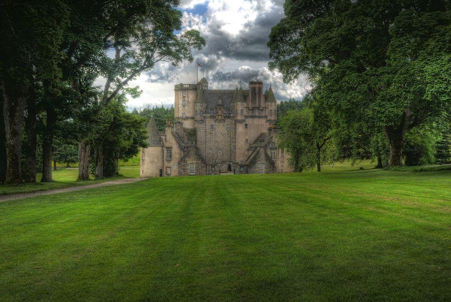 Castle Fraser (rear) National Trust Nts Castle Fraser Scotland 💕 Castle Grounds HDR Aberdeenshire