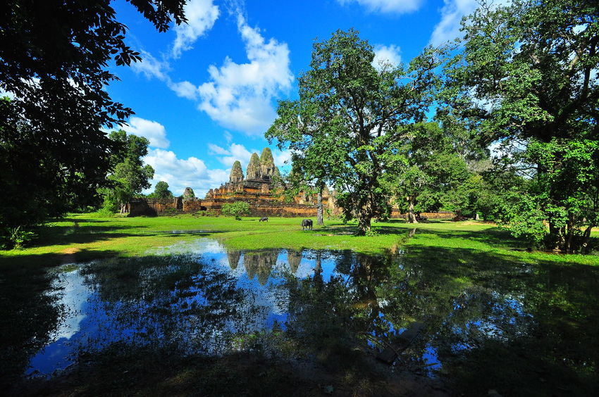 Green Color Reflection Sky Tourism Tranquility Travel Destinations Water