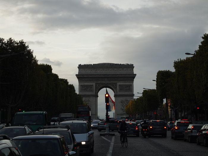 Arc de Triomphe. Paris, France Arch History Architecture Built Structure Arc De Triomphe Arc De Triomphe, Paris Arc De Triomphe De L'Étoile Paris Paris, France  Car Triumphal Arch Tree Monument Traffic Road City Travel