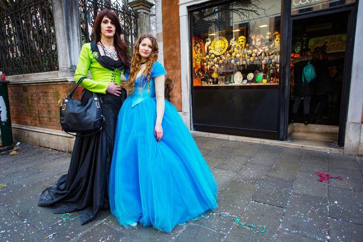 Carnival Carnivale In Venice Adult Adults Only Beautiful People Beautiful Woman Carnival Costumes City Day Elégance Evening Gown Fashion Full Length Glamour Outdoors People Portrait Real People Standing Togetherness Two People Women Young Adult Young Women