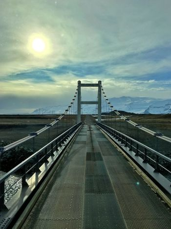 Sunset Bridge Driving Sky And Clouds Road Iceland_collection Iceland116