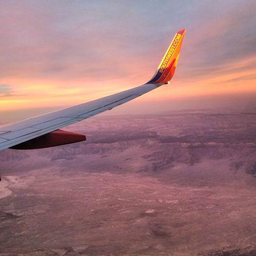 Sunset Tranquility Sky Outdoors Nature Beauty In Nature Las Vegas, Nevada Vegas Baby Las Vegas VEGAS🎲 Desert Landscape Travel Destinations Rock Formation Desert Landscape Mountain Peak Mountain Range Flying Home In Flight Plane View