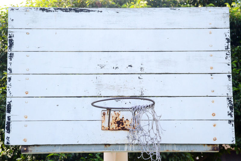Basketball Hoop Wood Close-up Day Friendship Neglect Old Outdoors Playground Togetherness Vintage White