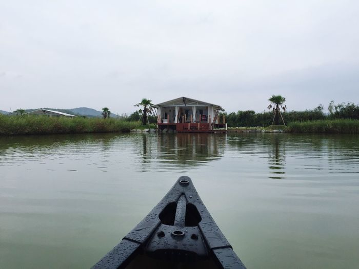 glamping at ise. viewing from canoe. Camping Being Adventurous Canoe