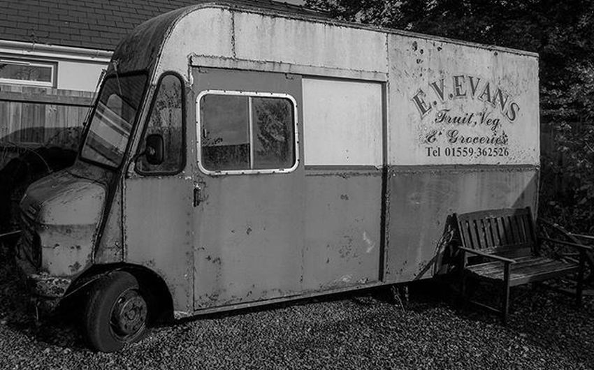 EV Evans mobile grocery van was once a regular sight in Ceredigion, Wales it now resides at the Museum of Childhood in Llangeler. A photo of this in all its mobile along with its owner Vincent can be seen at http://www.haydndenman-photography.com/ check it out . Instagram POTD Instagood Igers IGDaily Instapic Bbcwales Walesonline Wales Pembrokeshire Westwales Ceredigion Llangeler Grocery Mobile History Vans Mobileshop Museum Abandoned @haydndenman Carmarthenshire Leica Leicacamera Monochrome Blackandwhite history
