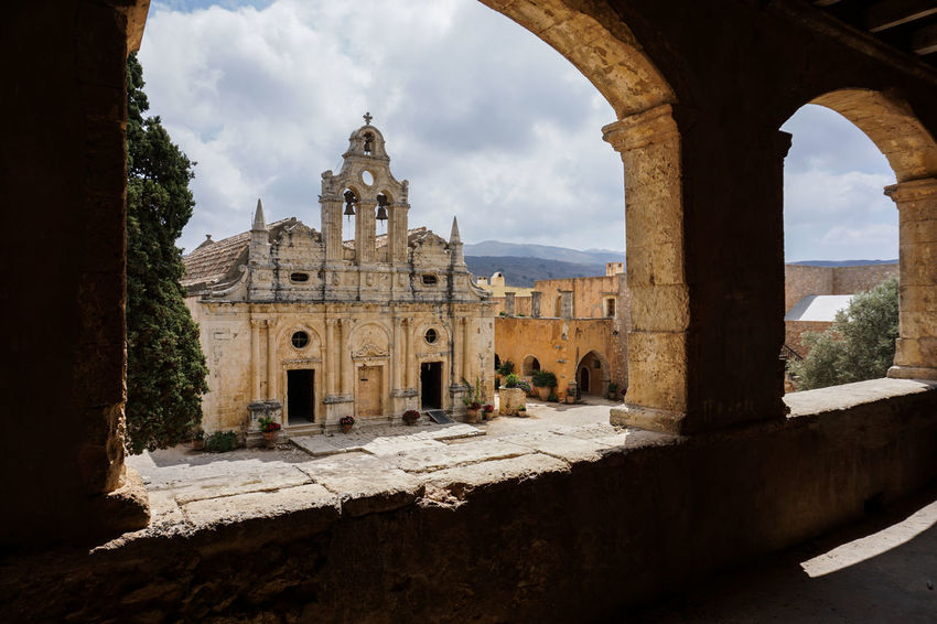 Arkadi Monastery Ancient Ancient Civilization Arch Architecture Architecture Building Exterior Built Structure Church Cloud - Sky Crete Day Greece History Monastery Mountain Old Ruin Summer Tradition Travel Vacations