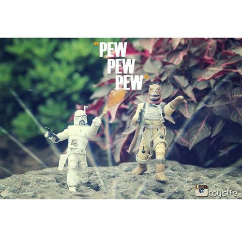'Pew Pew Pew' (re-release) Starwars Starwarstoys Bobafett Boba Fett Bossk Bountyhunters Bountyhunter Funwithtoys Toyslagram Pew PewPewPew Toyography Toyographer Actionfigures