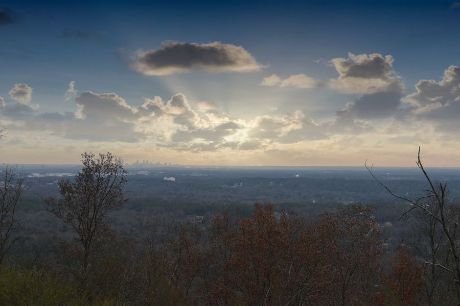 Sunset over the Atlanta skyline. Day 6 of 365. Sky Scenics Cloud - Sky Landscape Outdoors Beauty In Nature Atlanta KennesawMountain 365project Adapted To The City