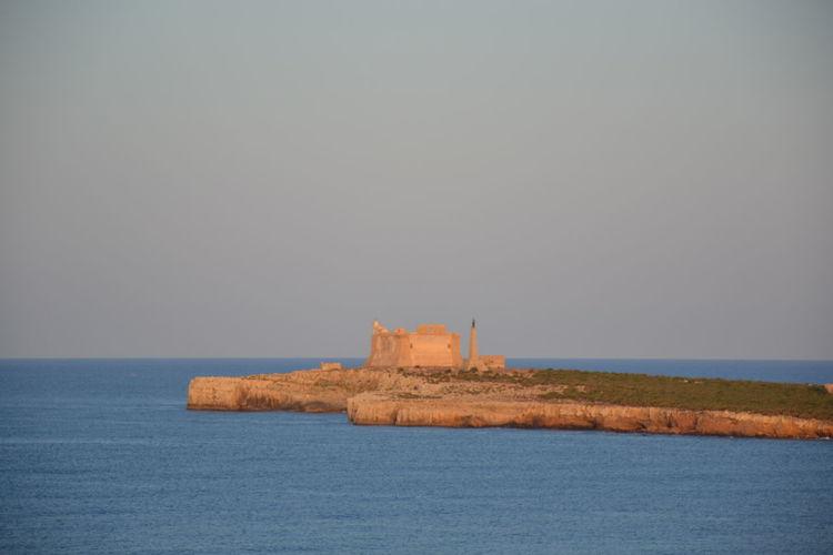vista della tonnara Panorama Architecture Castel Castello Clear Sky Nature No People Outdoors Sky Tonnara