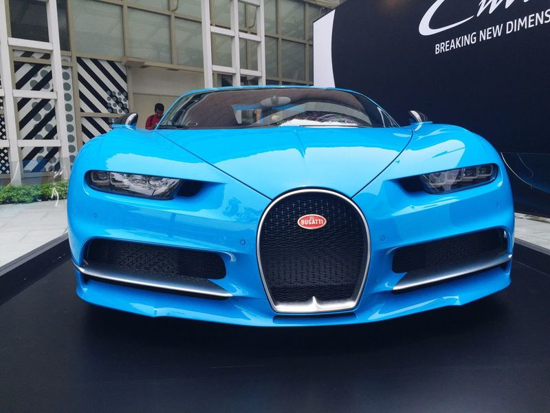 Bugatti Chiron Supercar on display at the Amber Lounge club in Singapore Car Transportation Mode Of Transport Land Vehicle Blue Close-up Old-fashioned Green Color No People Bugatti Chiron Bugatti Chiron Limitededition Supercar Supercars SupercarsofLondon Blue