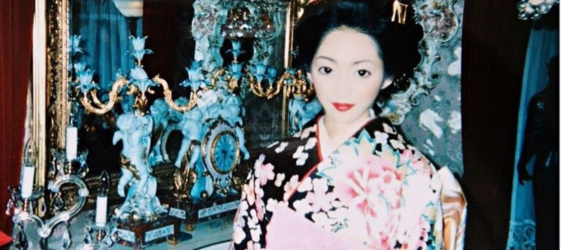 kimono 👘 Person Retail  Focus On Foreground Me My House Myhome Home Kimono Japan Japanese  振袖 着物 家 成人式 Memories Japanese Style 日本髪 人間国宝