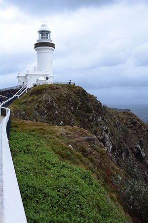 Cape Byron lighthouse. New South Wales. Australia Australia Byron Bay Byron Bay Lighthouse Cape Byron Lighthouse Lighthouse New South Wales  Tourist Attraction  Architecture Aussie Building Exterior Cape Byron Cliff Cloud - Sky Landscape Newsouthwales Outdoors Scenics Tranquil Scene White Lighthouse
