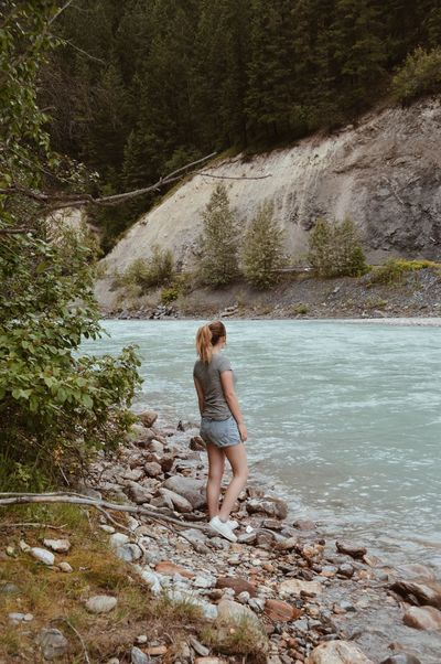 Lost In The Landscape Canada British Columbia Rock - Object Nature Water One Person Adventure Beauty In Nature Summer River Wanderlust VSCO