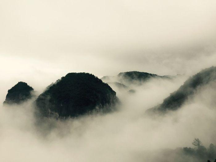 云雾缭绕 above the clouds Fog Mist Beauty In Nature Scenics Tranquility Foggy Landscape Mountain Mountain View Mountain Peak Peaceful Zen China Lost In The Landscape