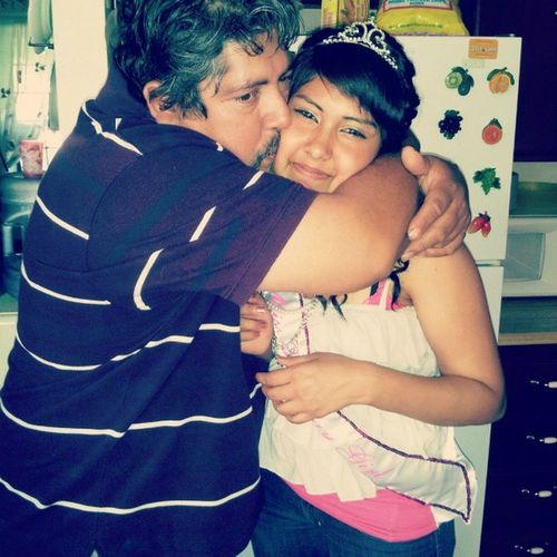 Me on my Birthdayy last year with my dad  Iwaschubby D: