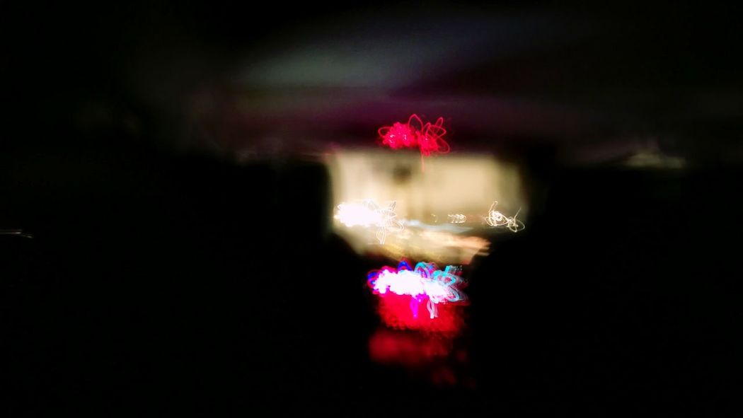through the night...sitting on the backseat and watching the motorway. Night Illuminated Glitchphotography Lightpainting On The Road My Point Of View On The Backseat Of The Bus Silhouette Through The Night With ...