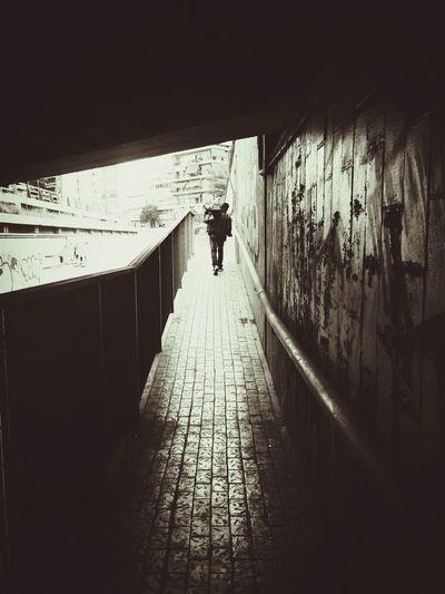 Monochrome Street Photography Bridge