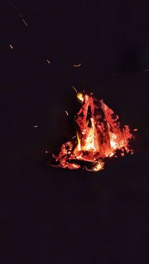 Heat - Temperature Flame Red Burning Igniting Motion Bonfire On The Beach Fire Bonfire Night Bonfire With Great Friends!