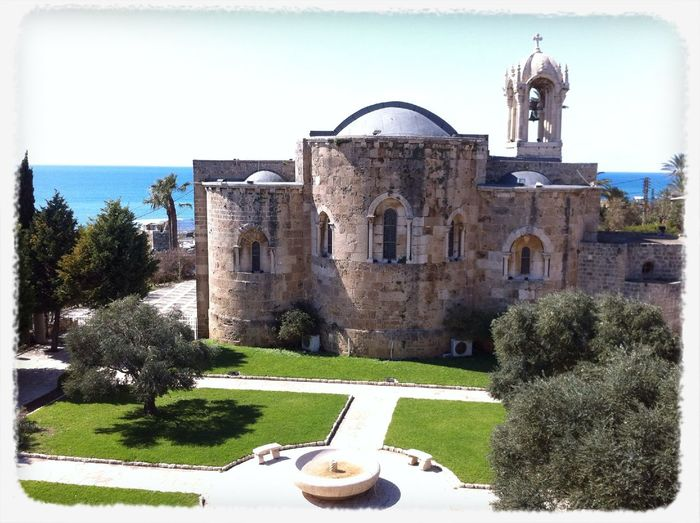 The St. John Marc historical cathedral this morning at BYBLOS, LEBANON The St. John Marc Historical Cathedral This Morning