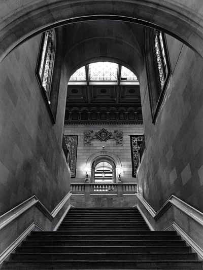 152 / 365 Arch Architecture Built Structure Indoors  Low Angle View No People Railing Staircase Steps Steps And Staircases Travel Destinations Universitat De Barcelona