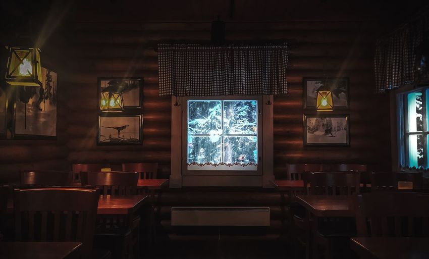 Christmas time !!! Indoors  Window Illuminated No People Glass - Material Table Architecture Built Structure Restaurant Lighting Equipment Glass Seat Religion Business Absence Place Of Worship Ceiling Spirituality Ornate
