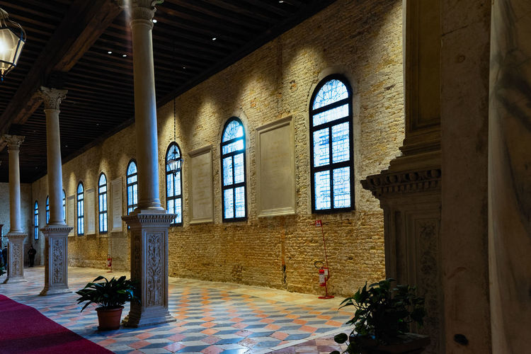 Ospedale SS. Giovanni e Paolo Architecture Window Indoors  Built Structure Building No People Day The Past History Place Of Worship Belief Religion Spirituality Arch Absence Flooring Old Architectural Column Ceiling Venice, Italy Ospedale SS. Giovanni E Paolo