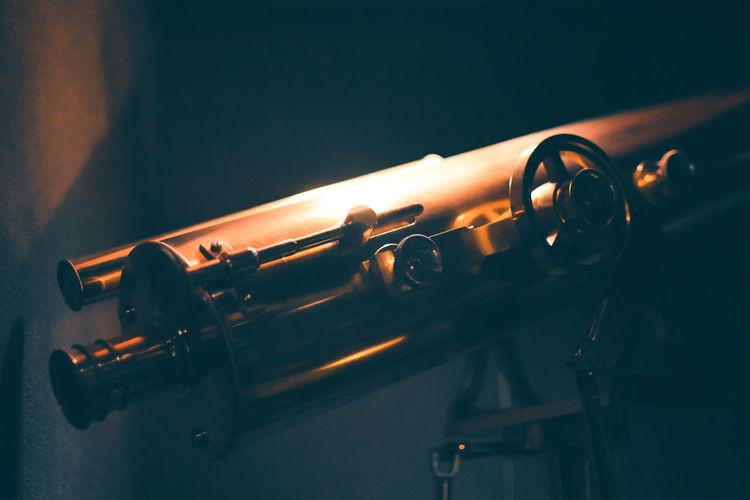Close-Up Of Telescope