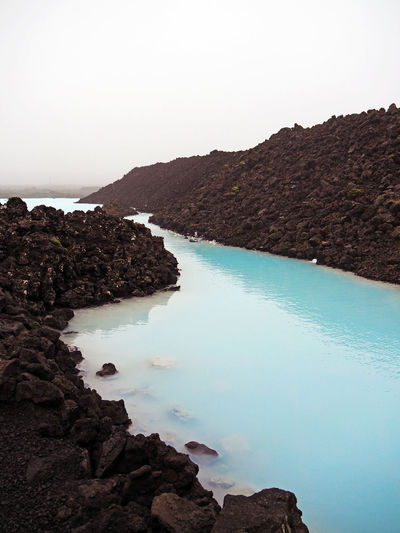 Coastline Iceland Idyllic Landscape Nature No People Outdoors Rock - Object Scenics Sea Thermal Thermal Bath Thermal Pool Travel Destinations Volcanic Landscape Water