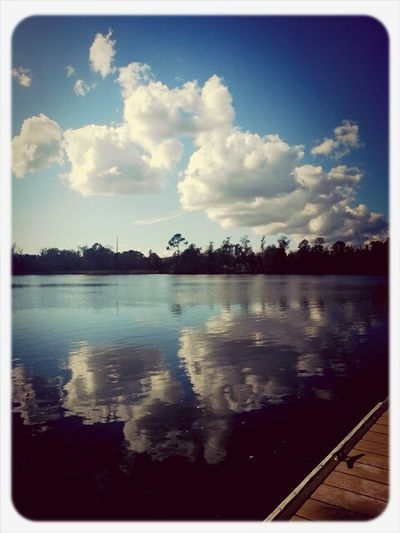love the clouds and the reflection of the clouds in the water. Reflections Clouds Sky_collection Living Near You