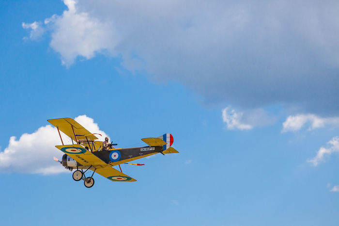 Air Vehicle Airplane Cloud - Sky Fighter Plane Flying France Historical Reconstruction Historical Reenactment History Sky Technology Wepon