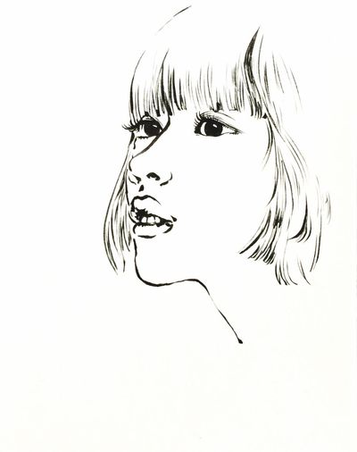 Art Drawing Sketch Draw Comics Comic Manga Face Woman Girl
