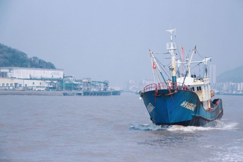 Nautical Vessel Transportation Mode Of Transport Water Sea Waterfront Day Outdoors Trawler Mast No People Sky