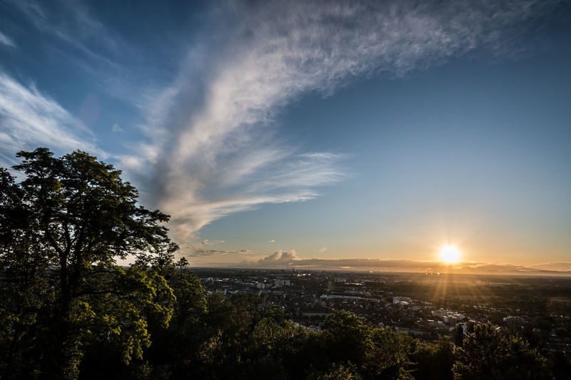 Karlsruhe Turmberg Architecture Beauty In Nature City Cityscape Day Durlach Growth Nature No People Outdoors Sky Sunset Tree