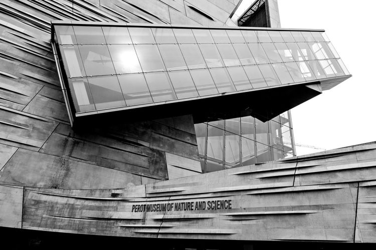 Perot Museum of Nature and Science Architecture Blackadnwhite Building Exterior Built Structure Close-up Day Indoors  Low Angle View No People Sky Text