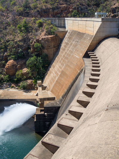 High Angle View Of Dam At Blyde River, South Africa