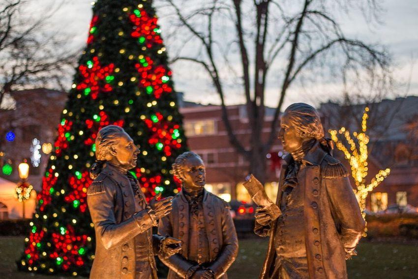 Best Christmas Lights Morristown Nj Founding Father George Washington Christmas Tree