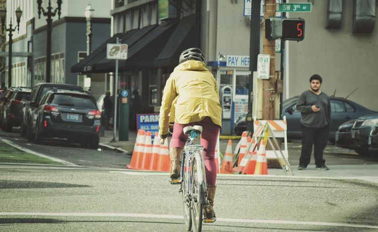 Telling Stories Differently From My Point Of View Eyeem Photography Something Different City Downtown Portland Bycicle Bycicle Rider Eyeemphotography Eye4photography  EyeEm Gallery Candid The Street Photographer - 2016 EyeEm Awards