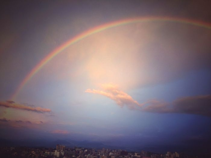 In Rainbow Rainbow Rainbow Sky Rainbow Colors Rainbows Sky And Clouds Rainbow🌈 Sky Snapshots Of Life