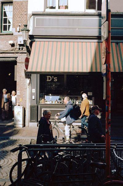 Brugge Street Ektachrome Kodak 35mm Film Belgium Film Photography Streetphotography Transportation Architecture City Mode Of Transportation Building Exterior Real People City Life People The Street Photographer - 2018 EyeEm Awards