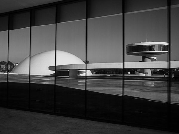 Architecture Avilés Blackandwhite Blackandwhite Photography Building Built Structure Centro Niemeyer City City Life Day Empty Eyeem Black And White Modern Niemeyer Niemeyer Center No People Reflection Reflection_collection The Architect - 2016 EyeEm Awards Your Design Story