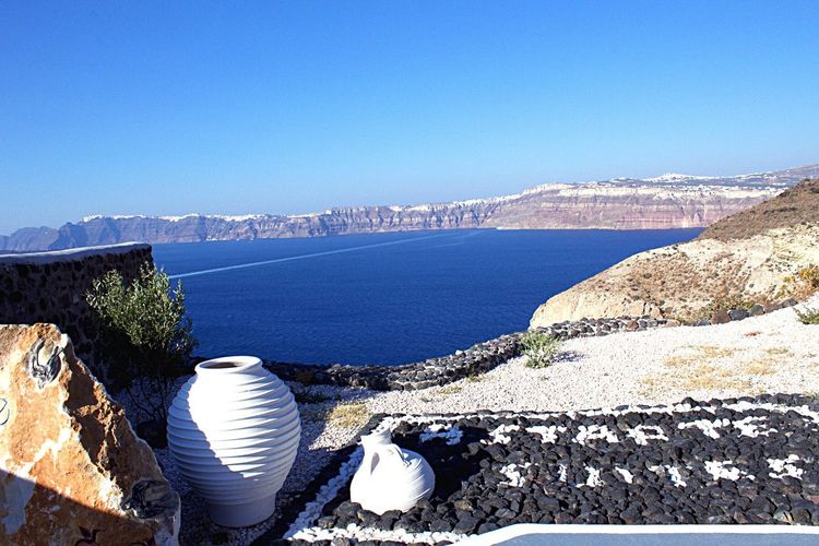 Santorini, Greece Blue Sea Santorini GREECE ♥♥ Greek Islands Greece Water Santorini Island Astarte Suites Hotel Santorini Greece Greekislands Greek Summer Horizon Over Water Santorini View Greek Colors Greece Photos