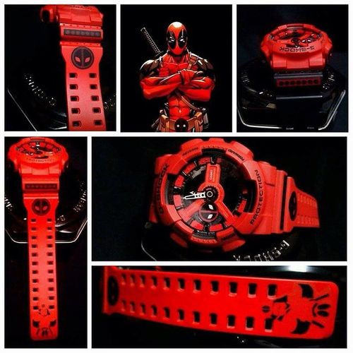 Deadpool Custom G-Shock... Astig! Gshock_Lover ❤️