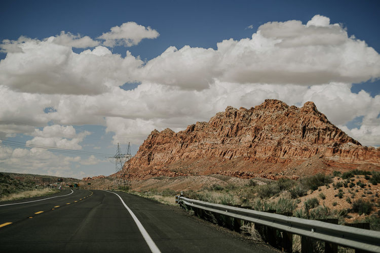 Page Arizona Canyon Canyons Road Trip Roadtrip Sky Clouds Clouds And Sky Polarizing Filter No People Landscape Scenic Landscapes USA Sunny Dream Empty Road Empty National Park Navajo Nation Travel Destinations Travel Red Rock