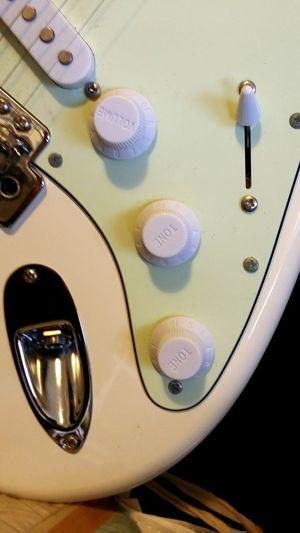 Guitar Strat White Strat Stratocaster Mint Green Musical Instrument Electric Guitar White Guitar Vintage White Rock Knobs 기타 스트랫 악기 전기기타