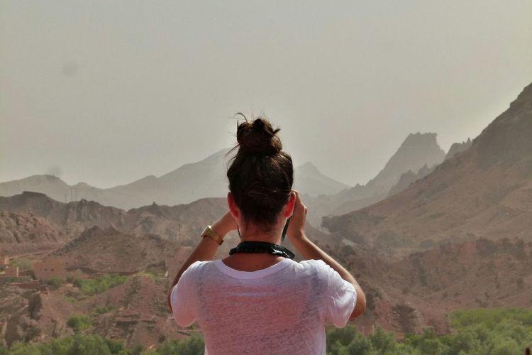 Man standing on landscape