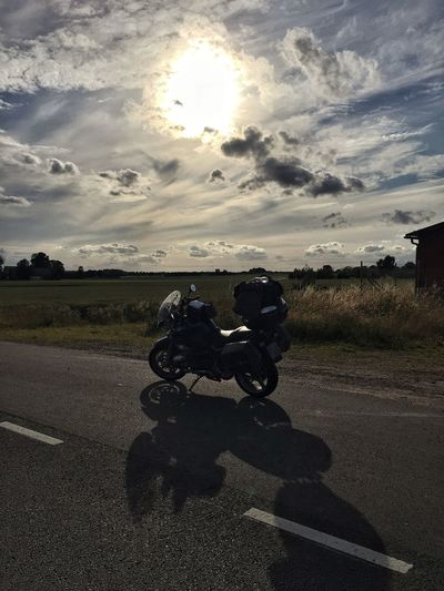 Rider Lone Rider Sunset Bmw Motorcycle Bmwr850r