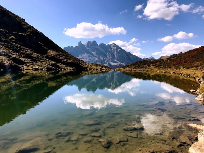 Tobelsee Bergsee Water Reflection Sky Cloud - Sky Beauty In Nature Tranquility Lake Mountain Nature Outdoors