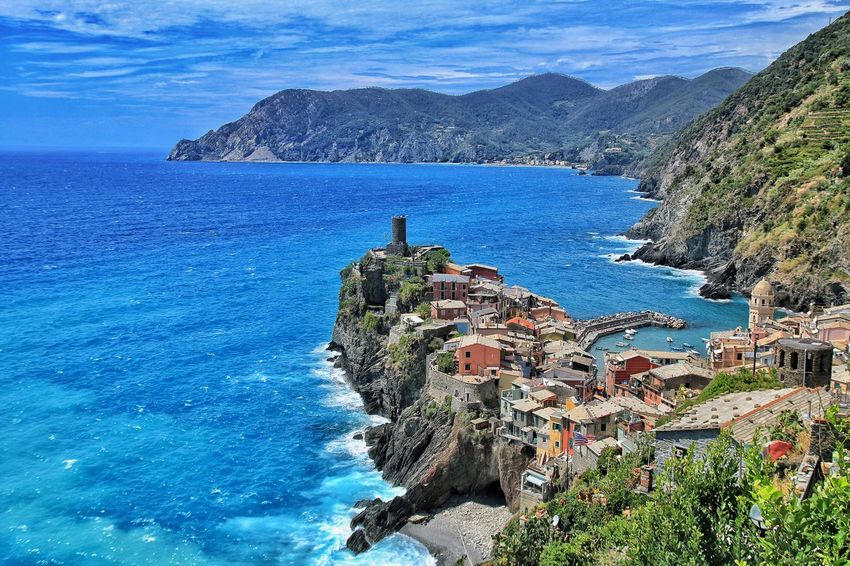 Coast Blue Sky Clouds And Sky Eye4photography  Village Love The View Italian Riviera Vernazza
