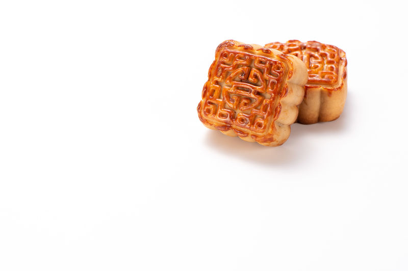 Mooncake in chinese traditional mid-autumn festival(moon festival) isolated on white background with clipping path(saved path), and copy space(text space), close up. Yolk ASIA Asian Culture Autumn Celebration Chinese Food Copy Space Dessert Mid-Autumn Moon Mooncake Cake MooncakeFestival Mooncakes Snack Asian Food Bakery Cake Chinese Isolated White Background Mid-autumn Festival Midnight Mooncake Mooncake Festival Traditional Traditional Festival
