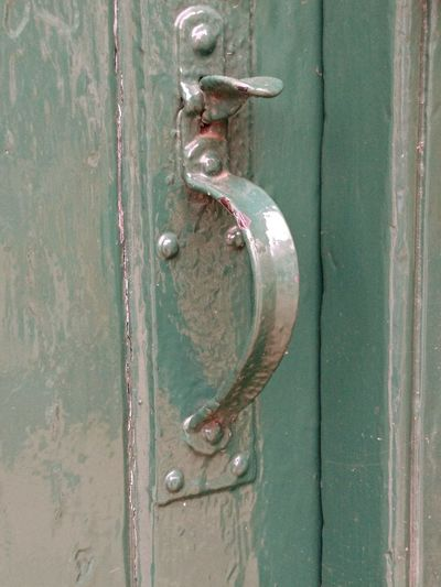 Old Green door latch Door Safety Metal Wood - Material Protection Full Frame Close-up Backgrounds Textured  Old-fashioned Outdoors Day No People Rusty